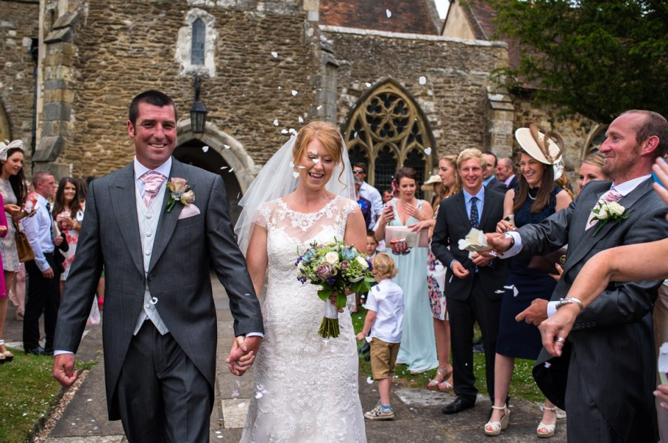 Marden Church Wedding Photography in Kent - Becky & Kif