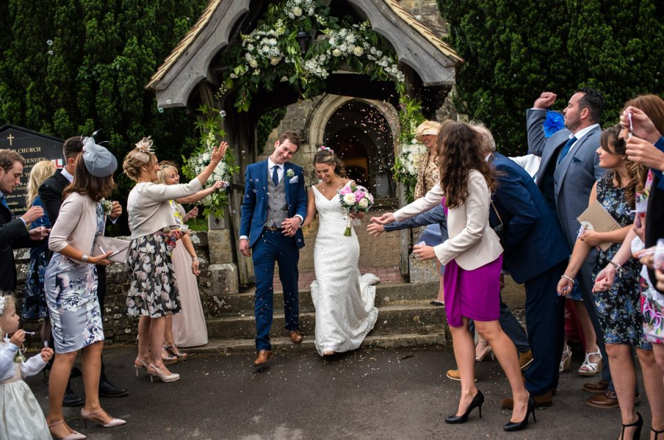 Benenden Church Wedding in Kent - Ellie & James