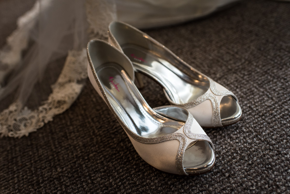 Wedding photography in Kent. Jades shoes