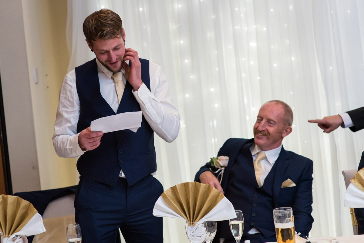 Stuarts best man makes his speech