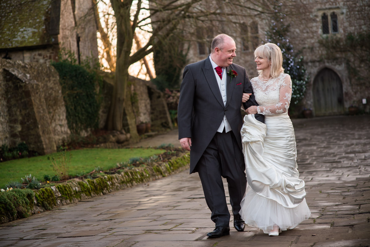 Sue and Nick photographed walking arm in arm outside Lympne castle in Kent