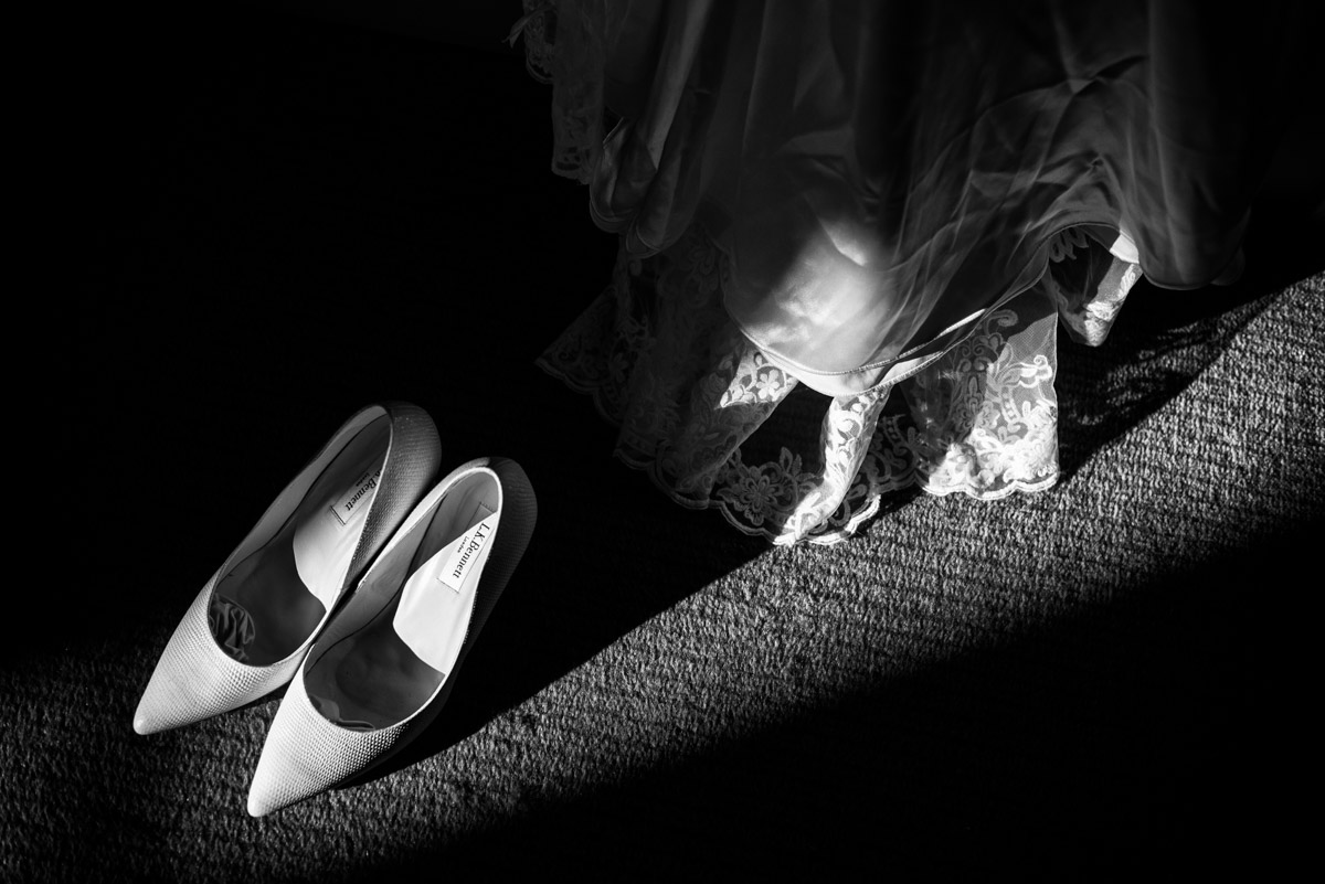 Photograph of wedding details at Buxted park Hotel
