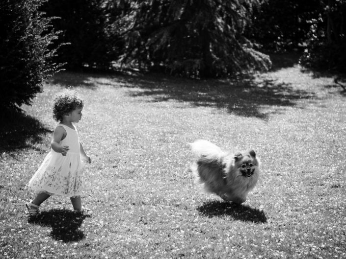 Photograph of Primrose and family dog in garden in Kent