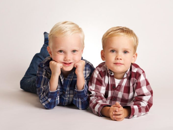 portrait studio children photograph of Harry and Jake