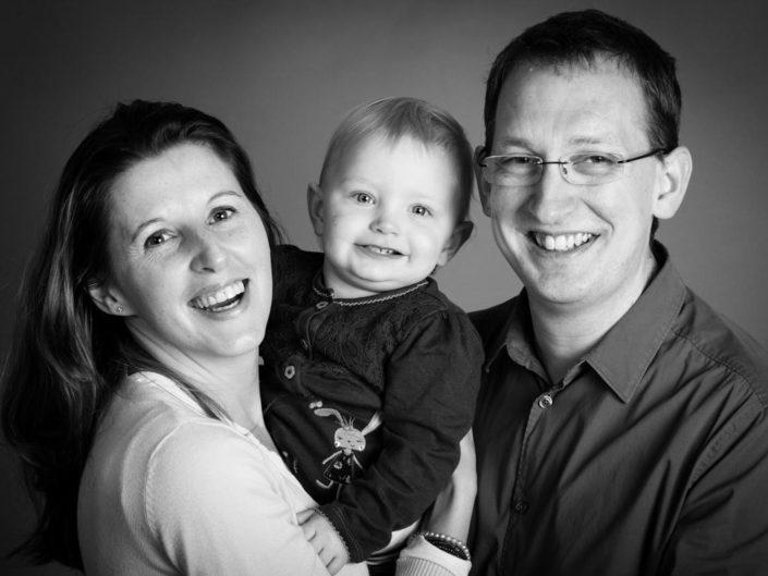 Family studio portrait taken by Kent wedding photographer Helen Batt