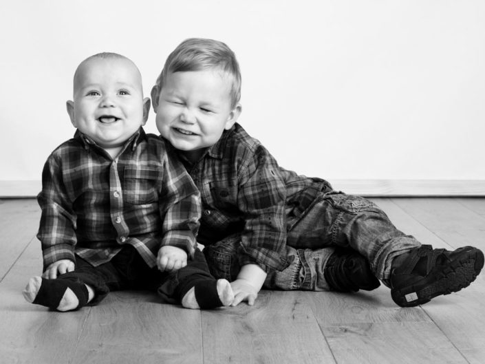 Portrait gallery photograph of two boys together