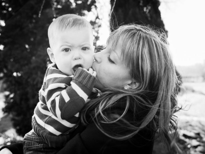 Mum and baby photography in garden in Kent