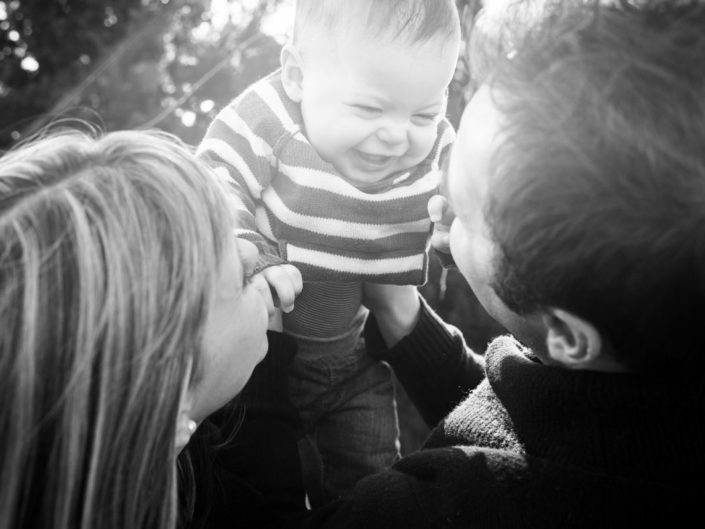 Outdoor photography of family in Kent garden