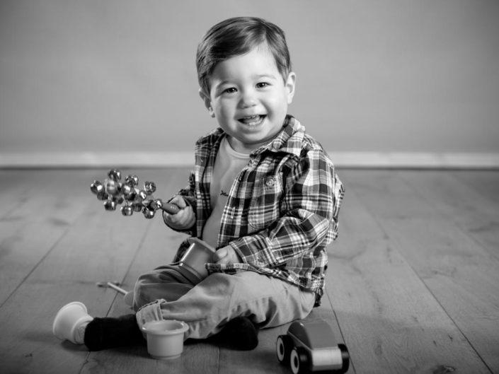 Portrait photograph of baby Zac taken in Kent studio