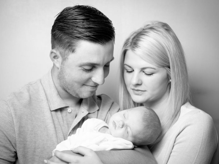 Shaun and Shana family and baby portrait photography in Kent