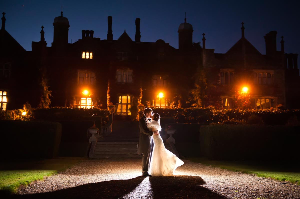 Eastwell manor wedding photography at night