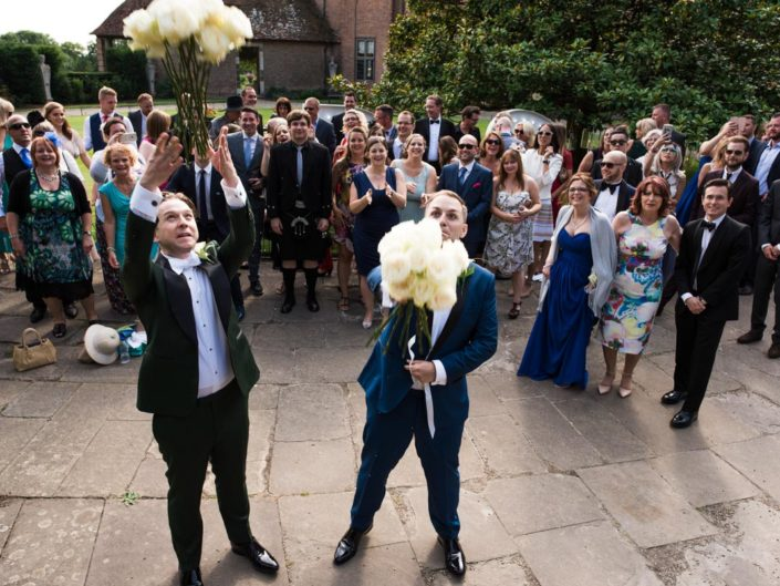 Documentary style wedding photography at Port Lympne in kent