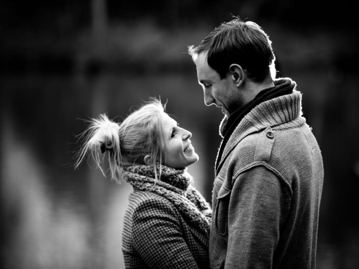 Rob and Emily are photographed by Kent wedding photographer Helen Batt in Harrietsham during their engagement portrait photoshoot