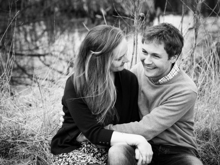 Black and white pre wedding photography featuring Catherine and Jonny