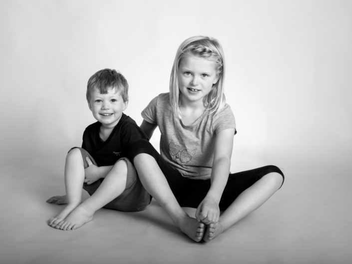 Studio portrait photography of Holly and cousin in Kent studio