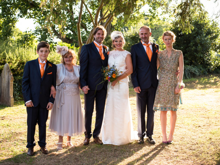Family group wedding photography in Ashford, Kent