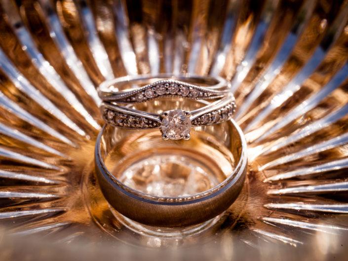 wedding rings photographed by Kent wedding photographer Helen Batt