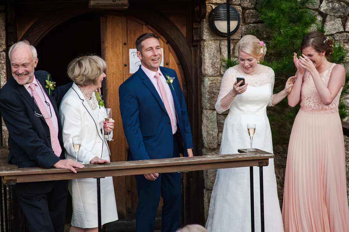Photograph of Matthew and Andreas Wedding speeches at Dering Arms in Kent