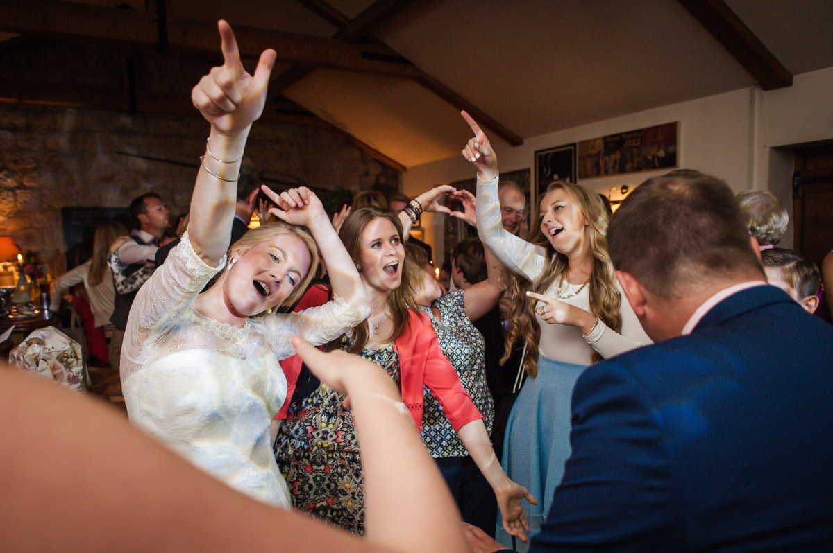 Wedding reception party photography at Dering Arms pub in Kent