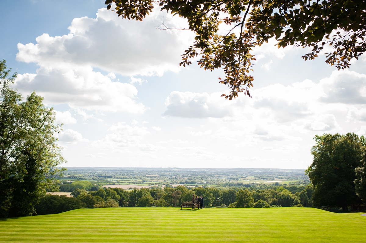 View from Boughton Monchelsea Place wedding venue