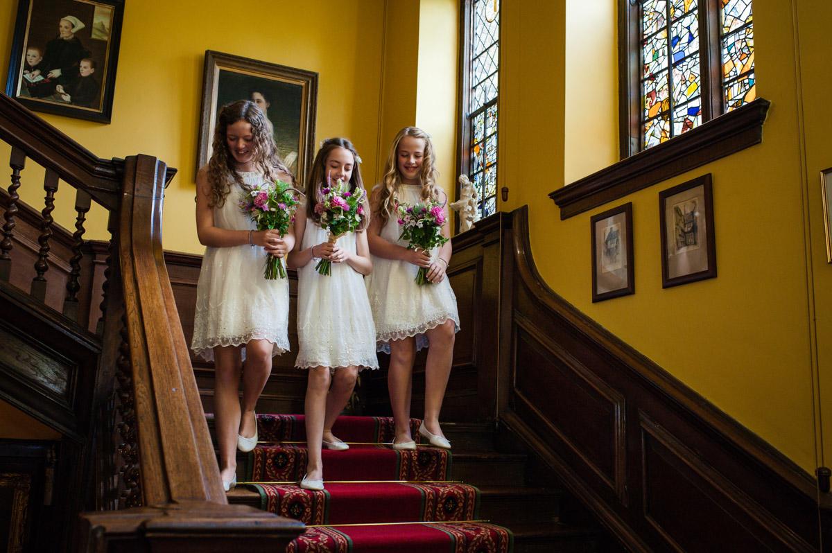 Bridesmaids at Boughton Monchelsea Place