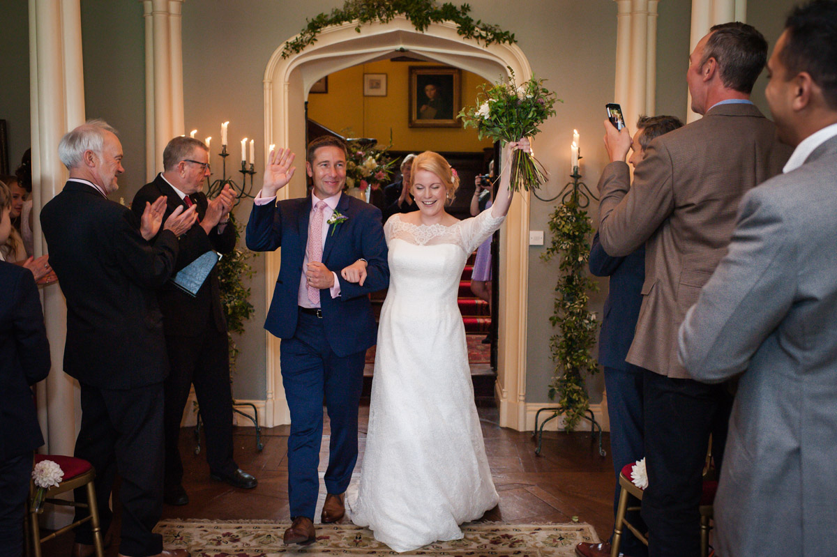 Photograph of Wedding ceremony at Boughton Monchelsea Place