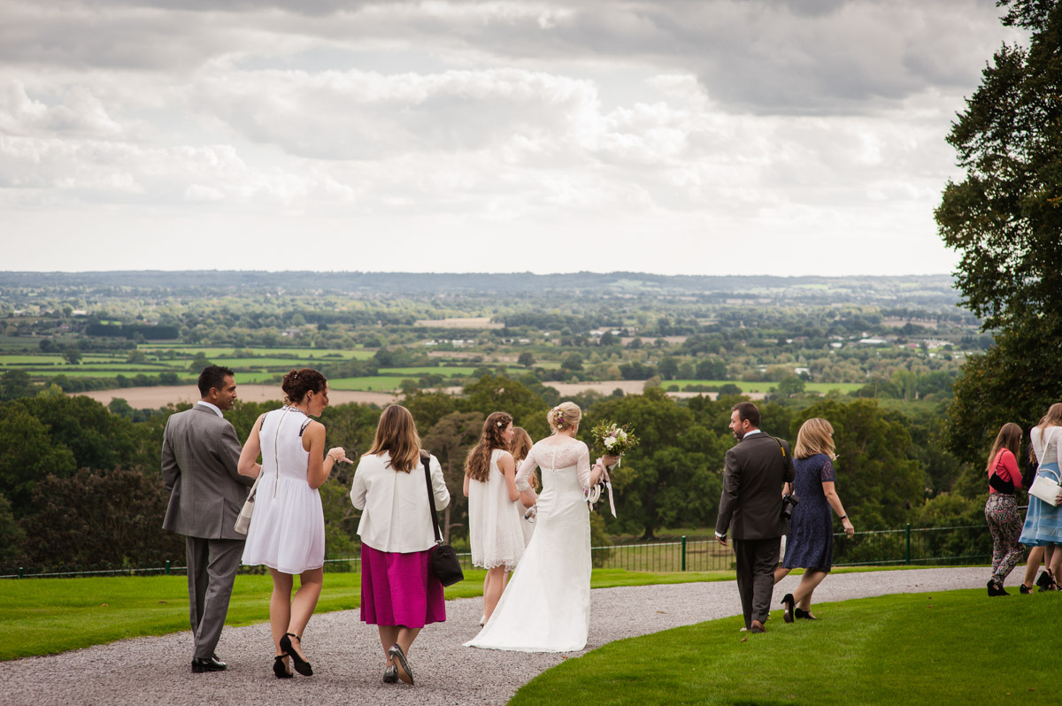 View across Kent downs from Boughton Monchelsea Place on Andrea and Matthews wedding
