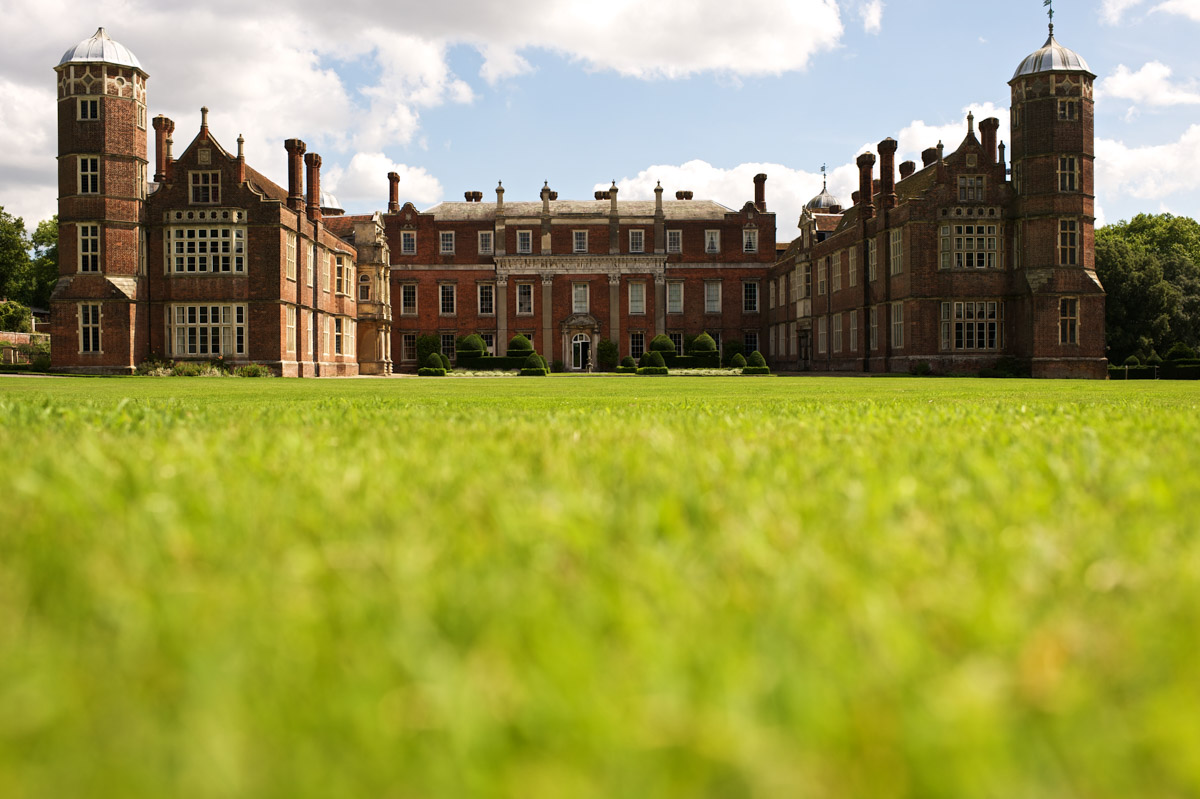 Photograph of Cobham Hall in Kent on Andrea and Tims wedding day