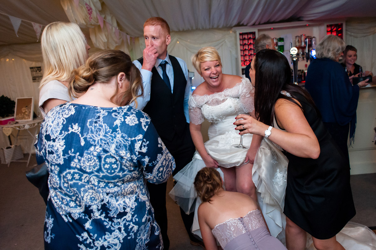 Photograph of Kelly and Stuarts wedding reception at hayne Barn House in Kent