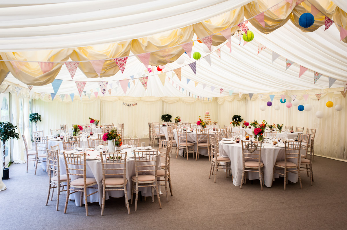 Photo of marquee at Hayne Barn House