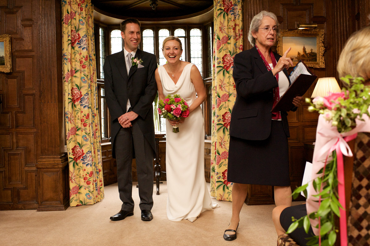 gail and john are announced as married after their wedding at never castle in kent