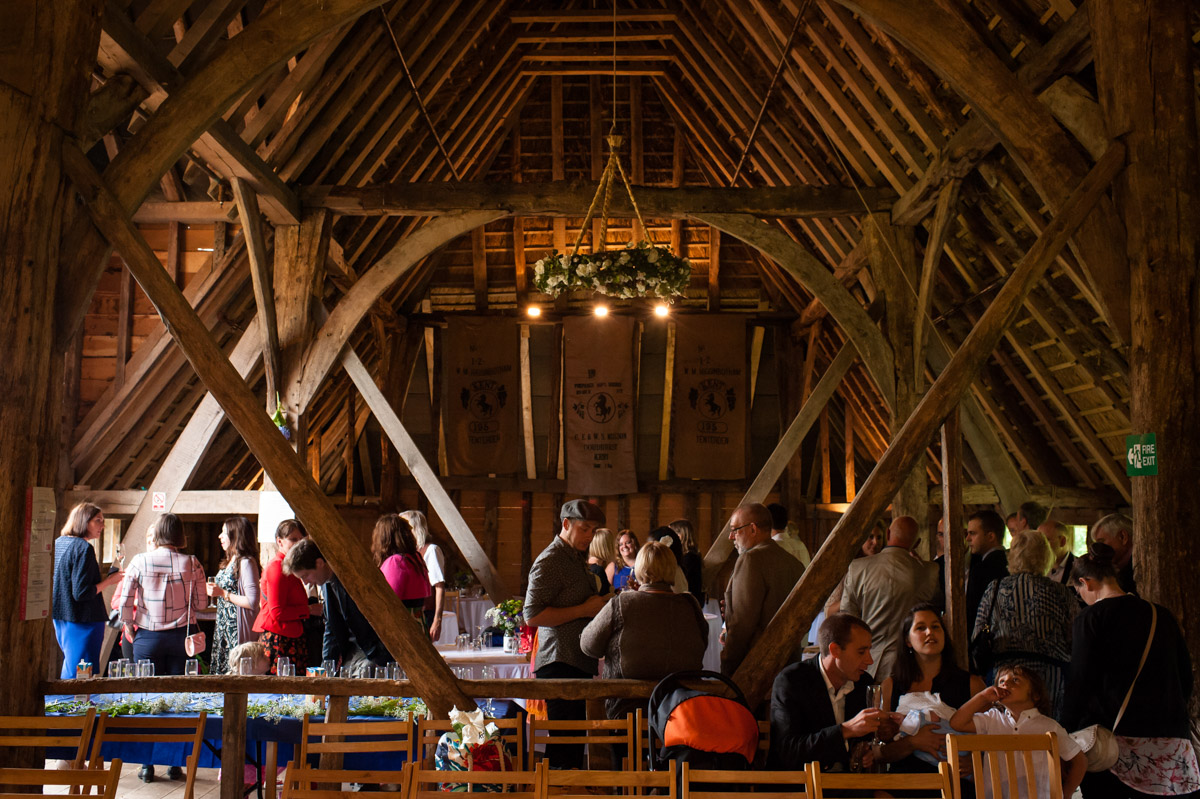 Photograph of inside Ratsbury barn wedding venue in Kent