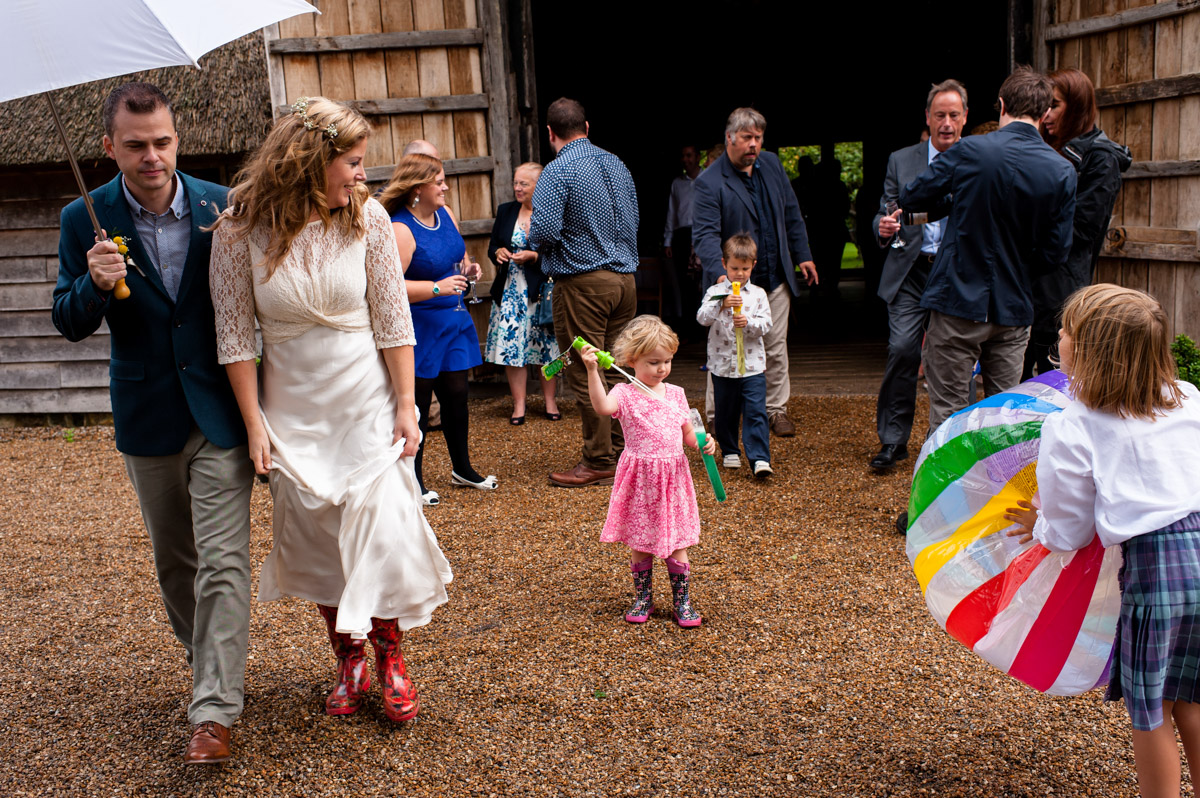 Wedding party photography at rats bury barn in Kent
