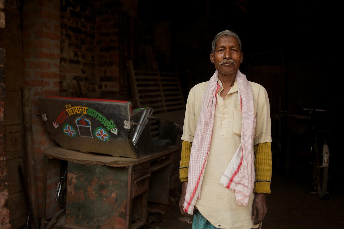 Portrait of man in India