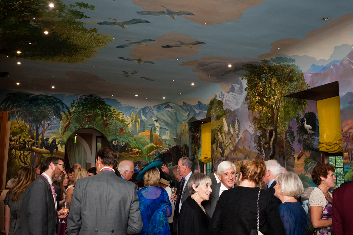 View of murals inside port lymph mansion at Dick and Martines wedding