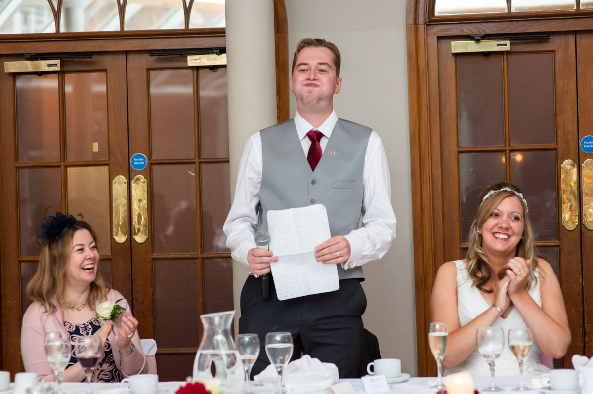 Photo of groom making his speech