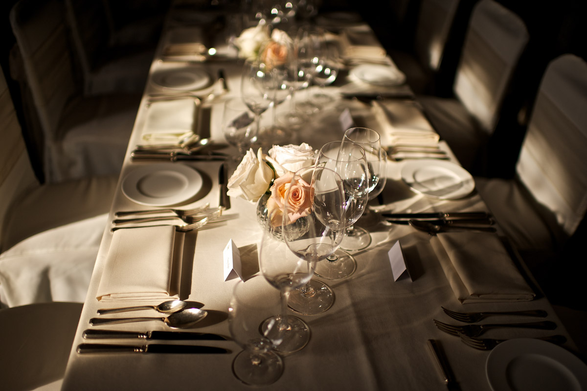 photograph of wedding tables at leeds castle
