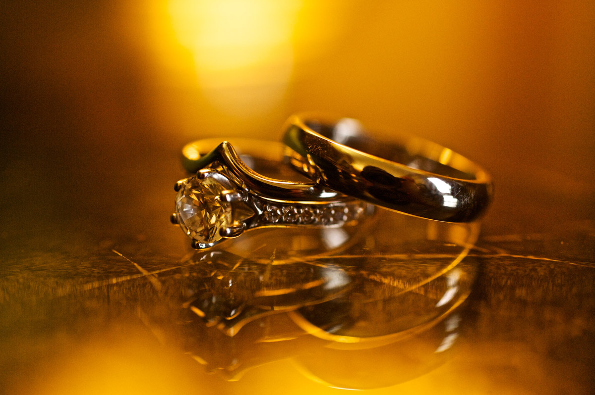 photograph of timea and edmunds wedding rings