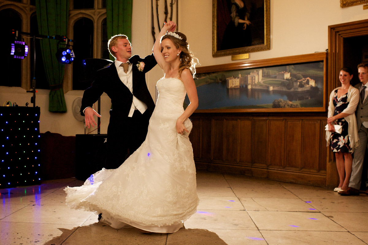 timea and edmund are photographed doing their first dance on their wedding day at leeds castle