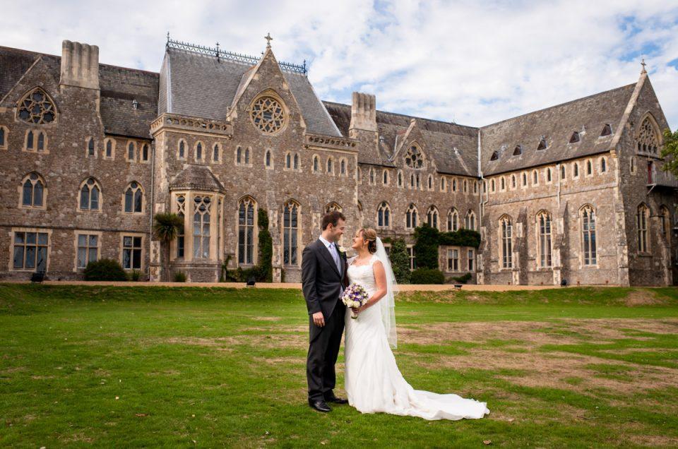 Wedding at St Edmunds School and Winters Barn - Hannah & David