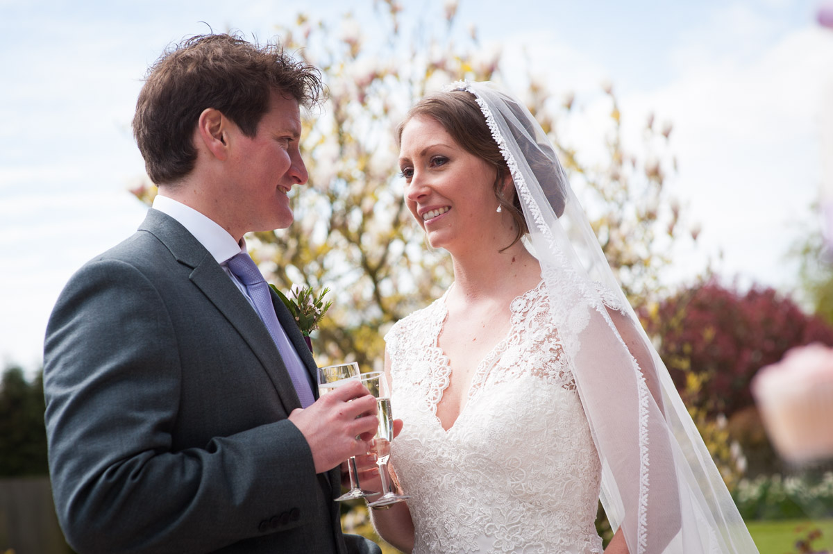 Photograph of Warrick and Bronwyn in the old kent garden wedding venue