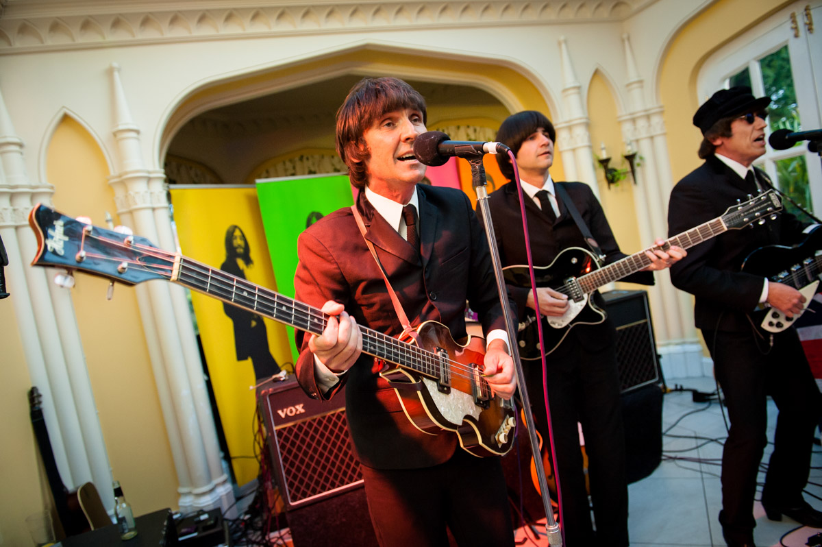Beatles tribute band at Whitstable Castle Wedding