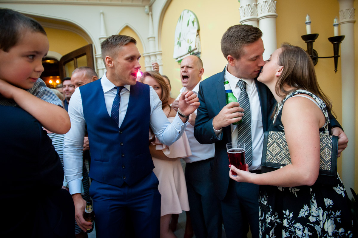 Photograph of guests at Whitstable Castle wedding reception