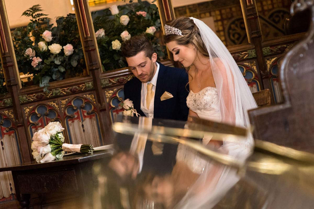 Contemplative wedding photograph of Jade and Stuart