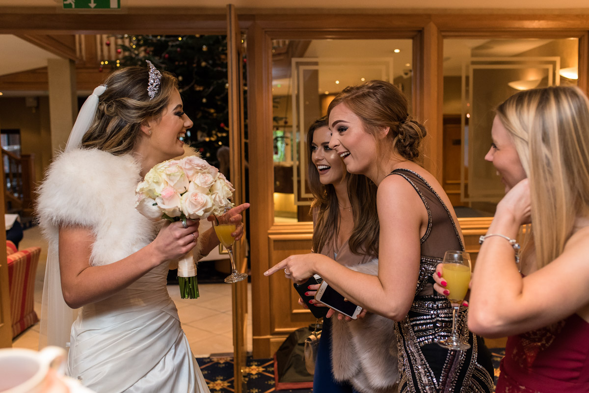 Photograph of Jade and her wedding guests