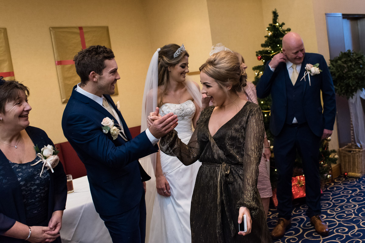 Jade and stuarts wedding receiving line