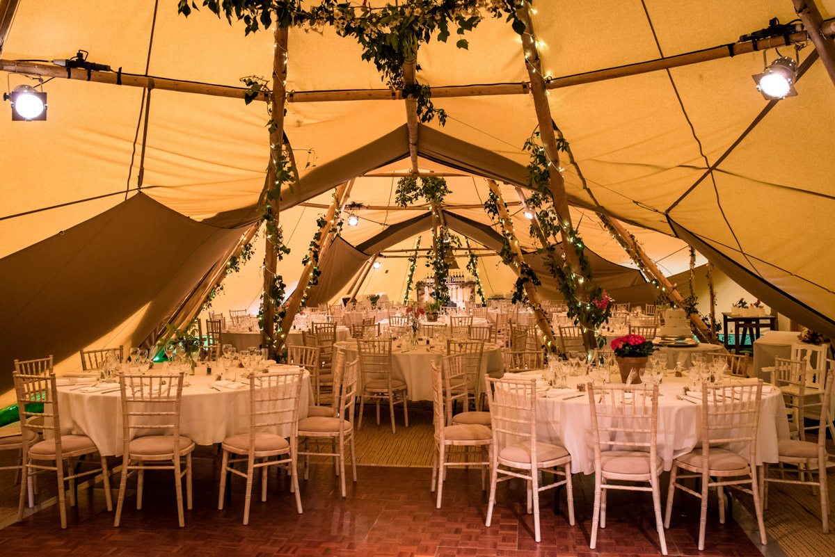 Photograph of tipi reception venue in Brenchley Kent