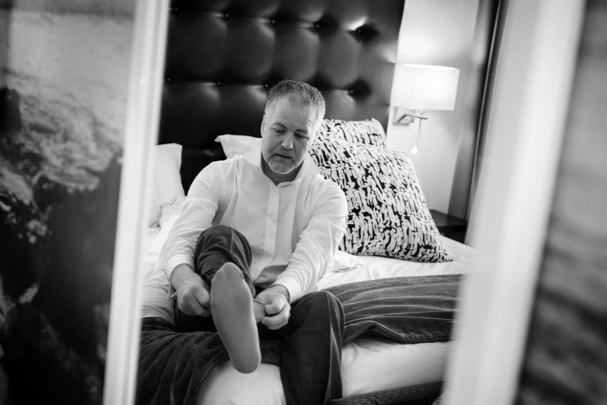 Darren photographed getting ready for his Hythe Imperial wedding in Kent