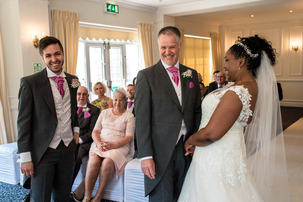 Photograph of wedding at the Hythe Imperial Hotel in Kent