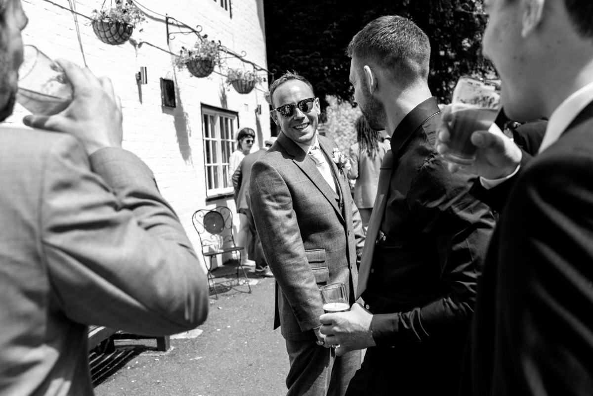 Photograph of Josh on his wedding day in Kent